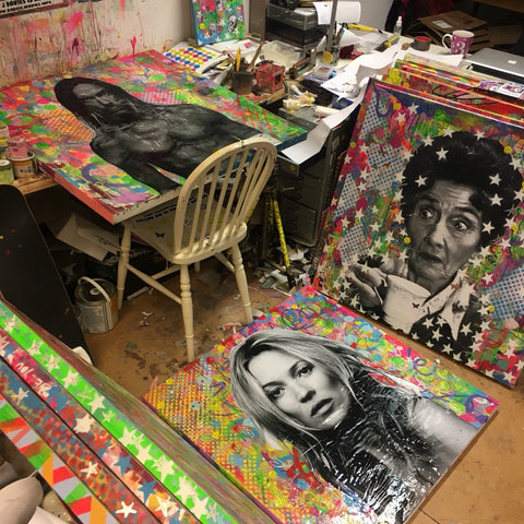 Work in Progress in my Brighton artist Studio today