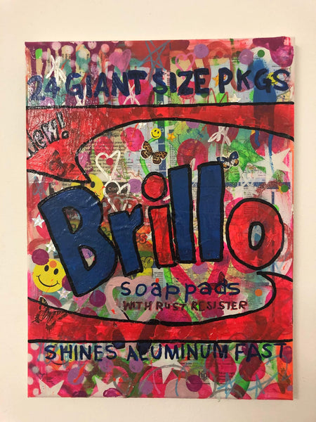 Groove is the Art by Barrie J Davies 2019, Mixed media on Canvas, 20cm x 25cm, Unframed.