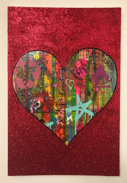 All is Full of Love by Barrie J Davies 2019, mixed media on canvas, Unframed, 50cm x 75cm