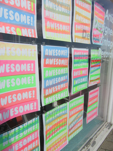 Awesome Window Artwork by Barrie J Davies at Neighbourhood store Shoreham-by-Sea