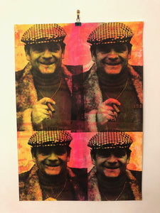 1234 Cushty Print by Barrie J Davies 2021.  Fun Contemporary Pop Art Street Artist based in Brighton England UK. Buy art for free delivery worldwide.