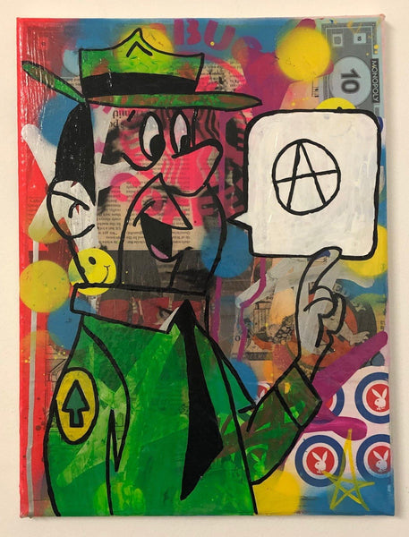 Be Free by Barrie J Davies 2020, mixed media on canvas, unframed, 30cm x 40cm. Barrie J Davies is an Artist - Pop Art and Street art inspired Artist based in Brighton England UK - Pop Art Paintings, Street Art Prints & Editions available