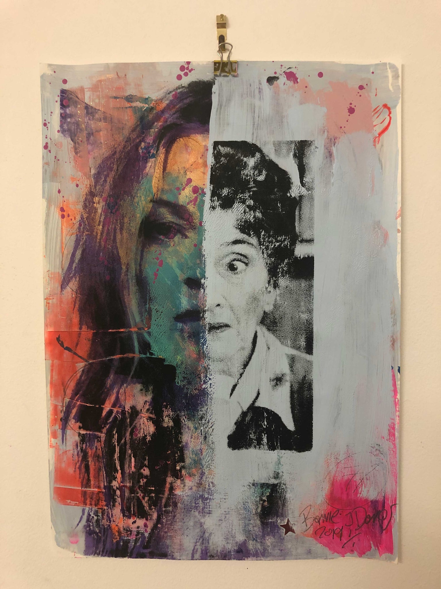 Cut and shut Print by Barrie J Davies 2019