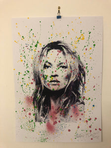 Splattered super Kate print by Barrie J Davies 2019