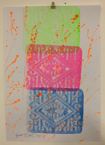 Disco Biscuit Print by Barrie J Davies 2020