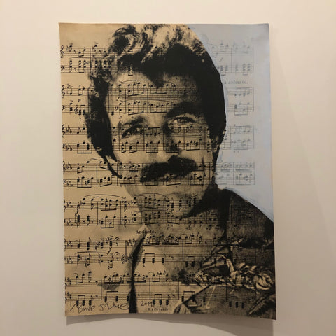 Musical Tom Print by Barrie J Davies 2019 - unframed Silkscreen print on paper (hand finished) edition of 1/1 - A4 size 21cm x 29cm