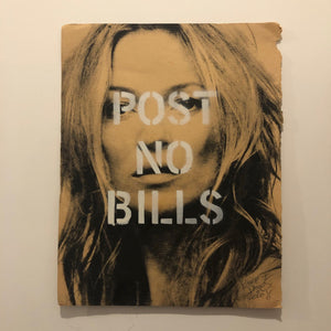 Post no bills Kate Print by Barrie J Davies 2020 - unframed Silkscreen print on paper (hand finished) edition of 1/1 - A4 size 21cm x 29cm