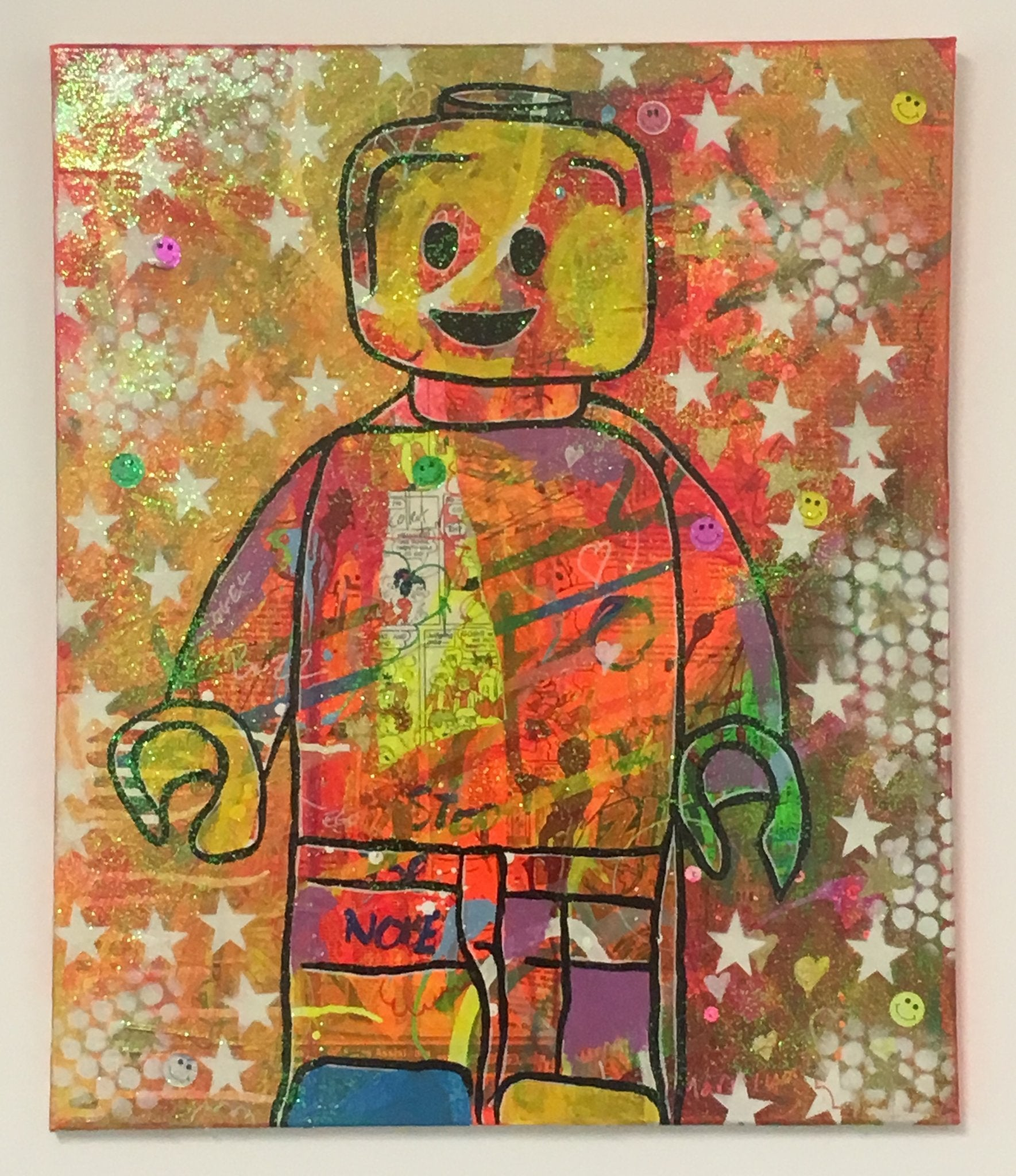 Sweet Melody by Barrie J Davies 2017, Mixed media on Canvas, 50cm x 60cm, unframed. Barrie J Davies is an Artist - Pop Art and Street art Artist based in Brighton England UK - Pop Art Paintings, Street Art Prints & Editions available.