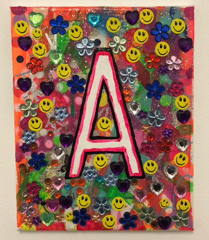 A Painting by Barrie J Davies 2020, mixed media on canvas, Urban Pop Art Street Artist based in Brighton England UK. Buy online for free delivery worldwide.