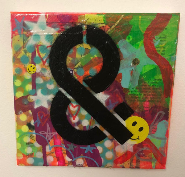 And by Barrie J Davies 2019, Mixed media on Canvas, 20cm x 20cm, Unframed. Barrie J Davies is an Artist - Pop Art and Street art inspired Artist based in Brighton England UK - Pop Art Paintings, Street Art Prints & Editions available.