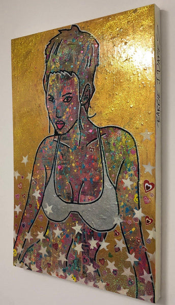 Breathe by Barrie J Davies 2018, mixed media on canvas, Unframed, 50cm x 75cm. Barrie J Davies is an Artist. He is a Pop Art & Street art inspired Artist based in Brighton England UK. Shop Pop Art Paintings, Street Art Prints & Editions with free postage.