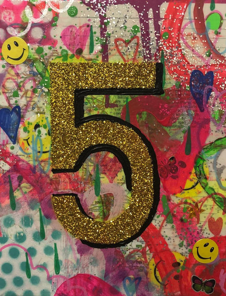 Come in Number 5 by Barrie J Davies 2019, Mixed media on Canvas, 20cm x 25cm, Unframed. Barrie J Davies is an Artist - Pop Art and Street art inspired Artist based in Brighton England UK - Pop Art Paintings, Street Art Prints & Editions available.