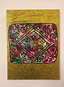 Disco Biscuit by Barrie J Davies 2019, Mixed media on Canvas, 30cm x 40cm, Unframed. Barrie J Davies is an Artist - Pop Art and Street art inspired Artist based in Brighton England UK - Pop Art Paintings, Street Art Prints & Editions available.