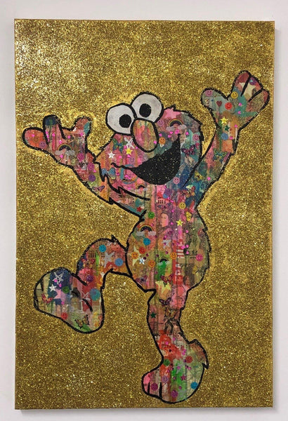 Disco Dancer by Barrie J Davies 2018, Mixed media on canvas, 60cm x 80cm, Unframed. Barrie J Davies is an Artist - Pop Art and Street art inspired Artist based in Brighton England UK - Pop Art Paintings, Street Art Prints & Editions available.