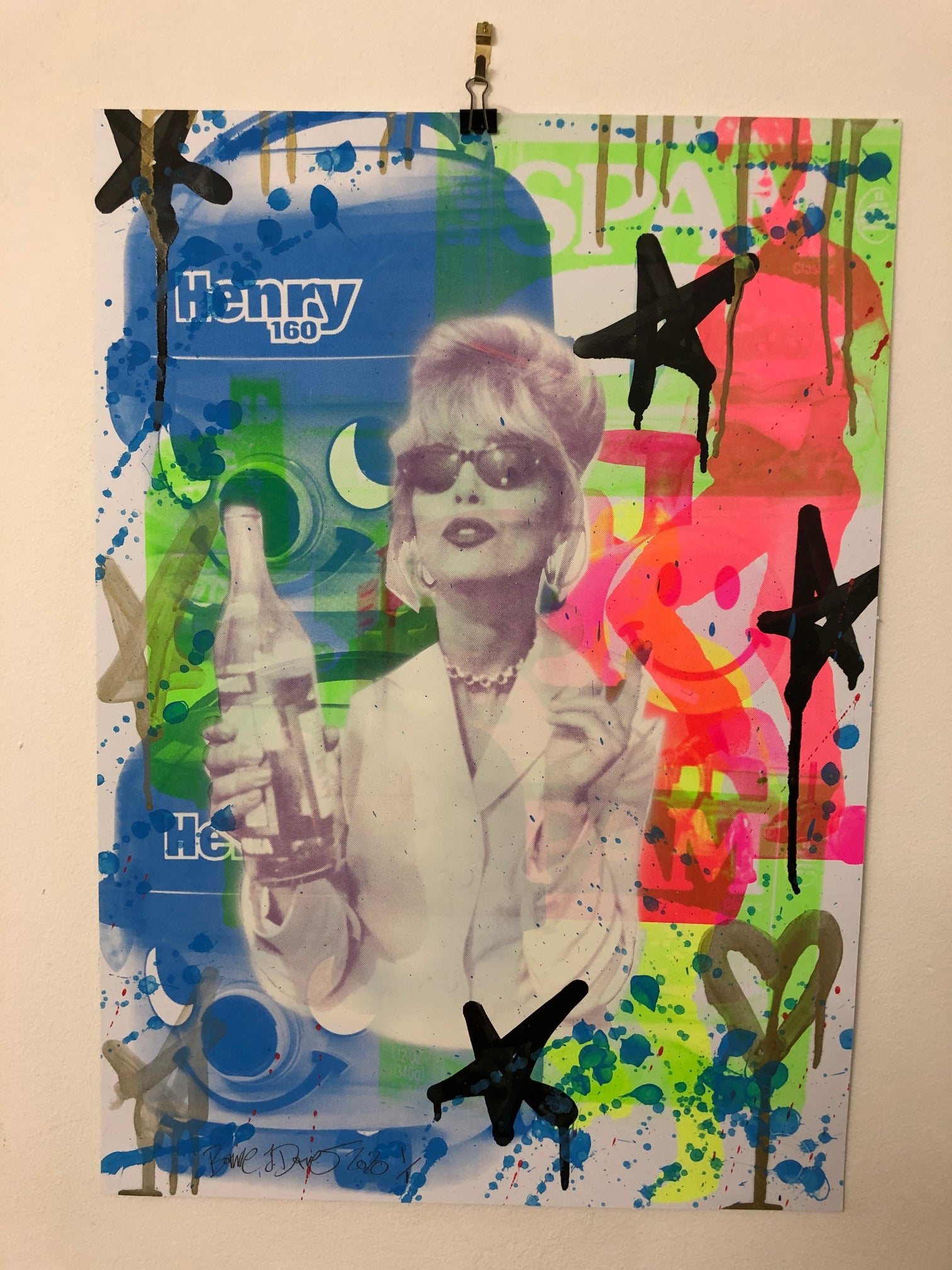 Drippy Mash Up Print by Barrie J Davies 2020