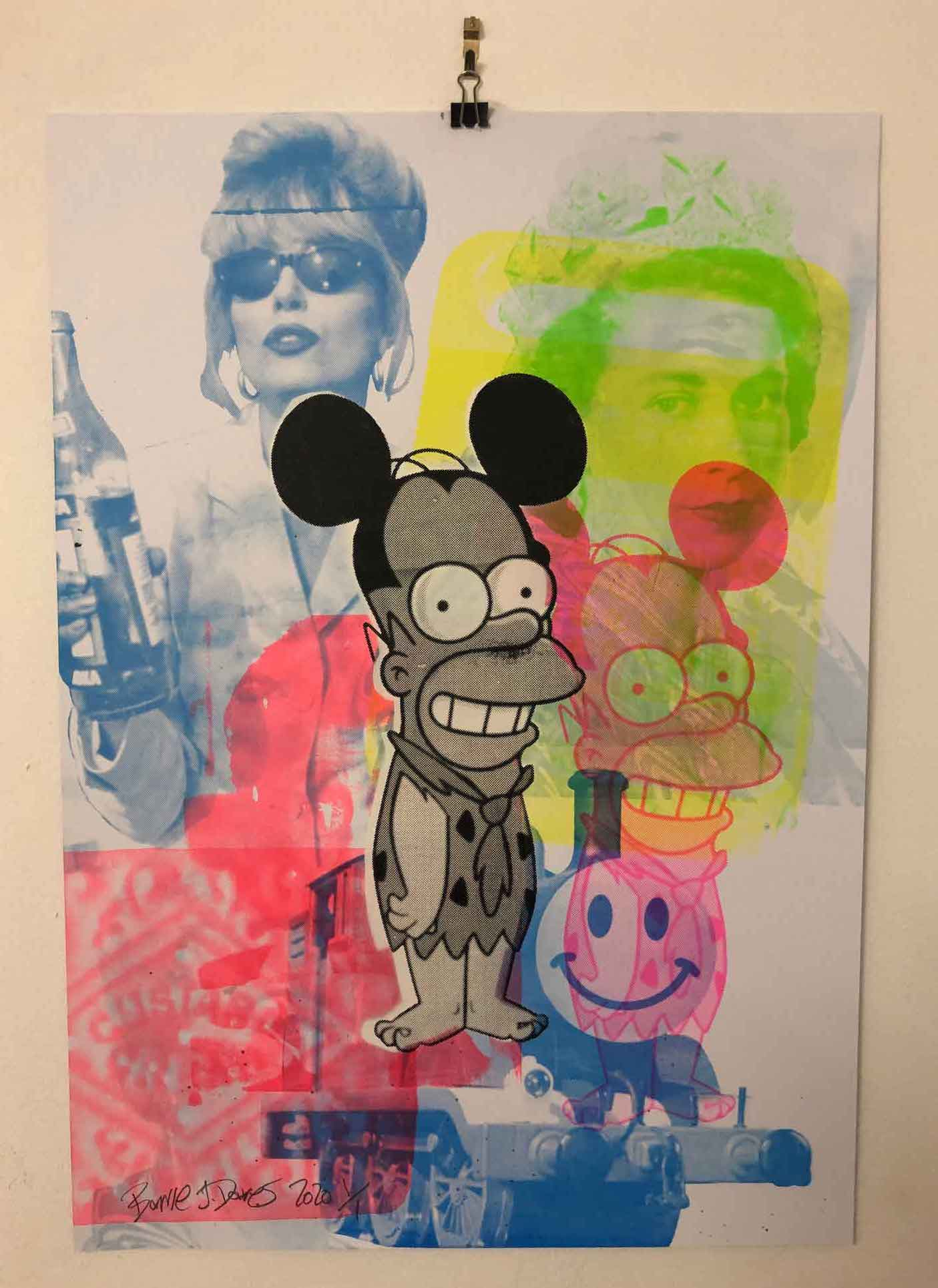 Monster Mash Graffiti Pop Art Print by Barrie J Davies 2020 - unframed Silkscreen print on paper (hand finished) edition of 1/1 - A2 size 42cm x 59.4cm. Urban Pop Art and Street art inspired Artist based in Brighton England UK - Pop Art Paintings, Street Art Prints & collectables.
