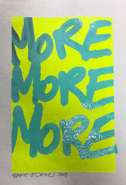 More More More by Barrie J Davies 2019