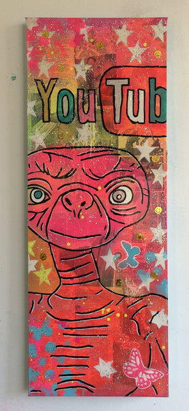 New Round by Barrie J Davies 2015, Mixed media on Canvas, 30cm x 80cm Unframed. Barrie J Davies is an Artist - Pop Art and Street art inspired Artist based in Brighton England UK - Pop Art Paintings, Street Art Prints & Editions available.