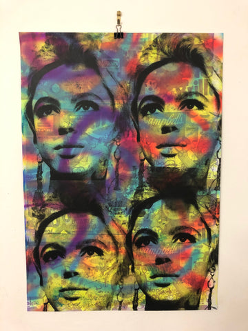 Psychedelic Art Star Print by Barrie J Davies 2021 - Pop Artist based in Brighton England UK. Buy online for free delivery worldwide.