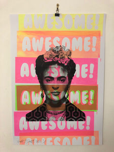 Shine On You Crazy Awesome Diamond Print by Barrie J Davies 2021, Urban Pop Art Street Artist based in Brighton England UK. Buy online for free delivery worldwide.