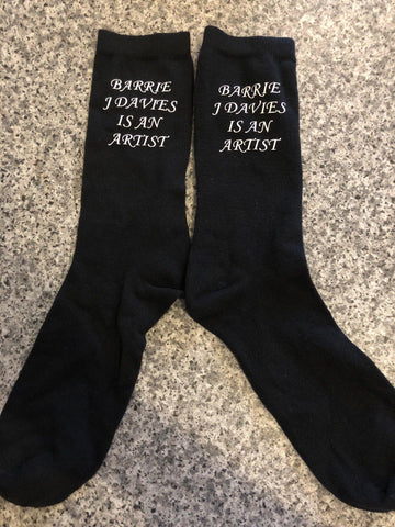 Barrie J Davies is an Artist Socks. Limited edition socks by Barrie J Davies only in one size. Barrie J Davies is an Artist - Pop Art and Street art inspired Artist based in Brighton England UK - Pop Art Paintings, Street Art Prints & Editions available.