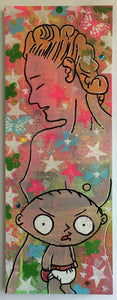Sunshine Superman by Barrie J Davies 2015, Mixed media on Canvas, 80cm x 30cm, Unframed. Barrie J Davies is an Artist - Pop Art and Street art Artist based in Brighton England UK. Buy art online with free delivery.