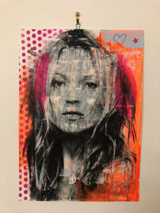 Super Kate Print by Barrie J Davies 2019 - unframed Silkscreen print on paper (hand finished) edition of 1/1 - A3 size 29cm x 42cm. Super Kate Print by Barrie J Davies 2019 - unframed Silkscreen print on paper (hand finished) edition of 1/1 - A3 size 29cm x 42cm.