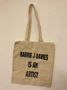 Barrie J Davies Is An Artist tote bag. Urban Pop Street Artist based in Brighton England UK. Buy online for free delivery worldwide.