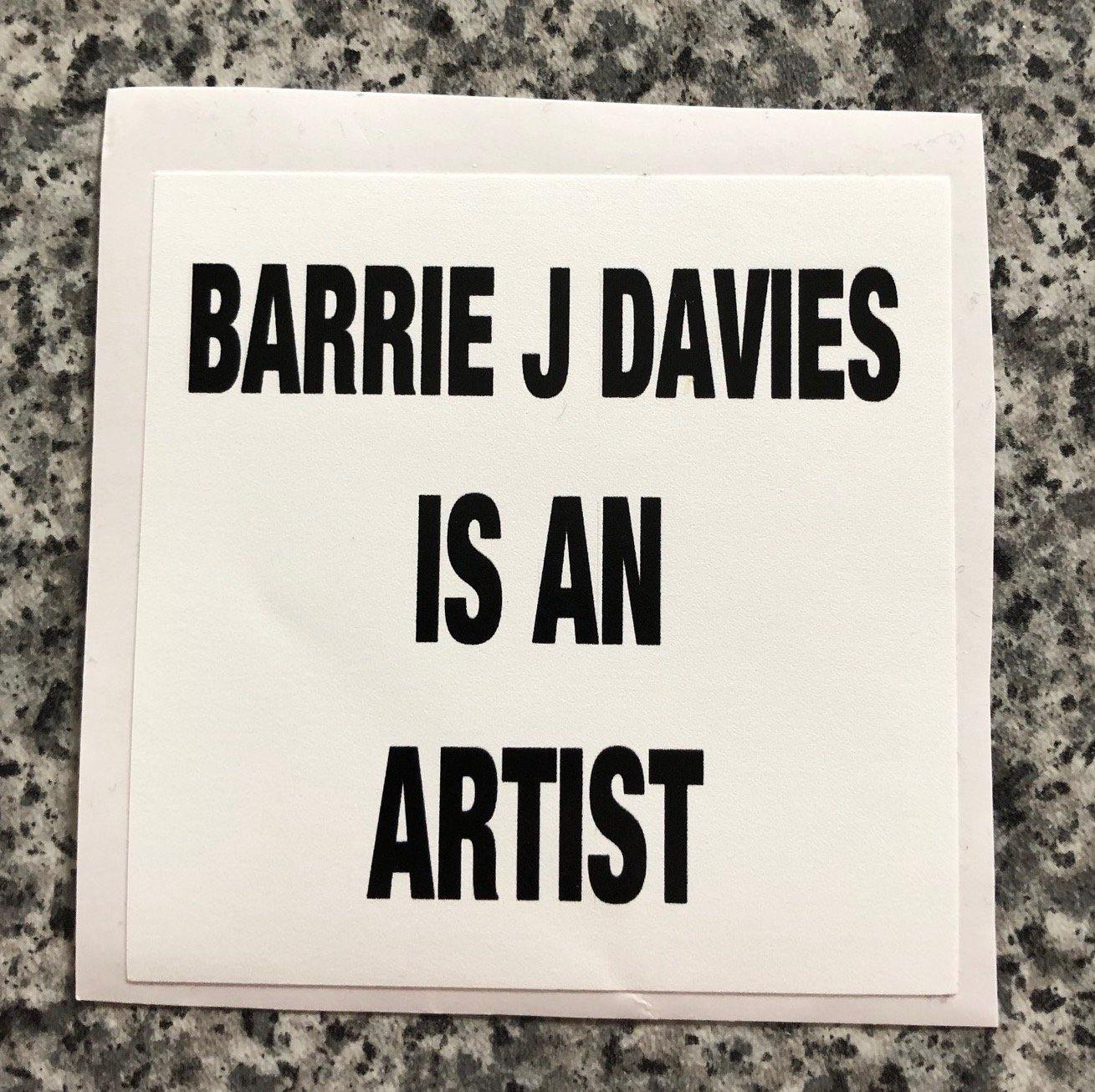Limited edition street art sticker by the artist Barrie J Davies. 5cm x 5cm - you can stick it to stuff.