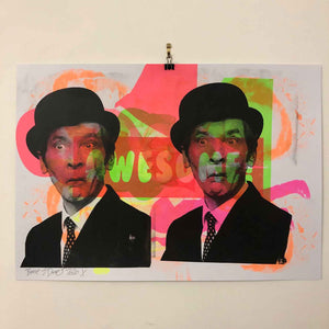 What's the frequency Kenneth Print by Barrie J Davies 2020, Urban Pop Art Street Artist based in Brighton England UK. Buy online for free delivery worldwide.
