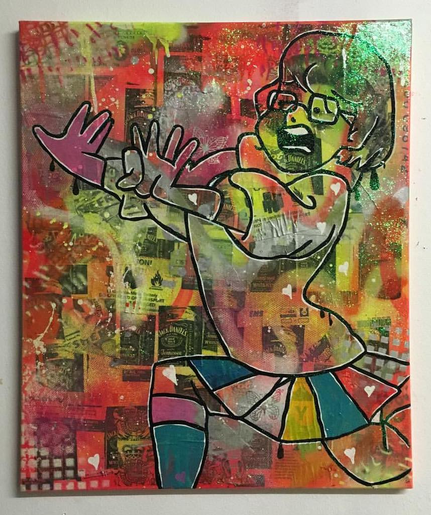 Zoned by Barrie J Davies 2016, mixed media on Canvas, 50cm x 60cm, unframed. Barrie J Davies is an Artist - Pop Art and Street art inspired Artist based in Brighton England UK - Pop Art Paintings, Street Art Prints & Editions available.