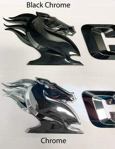 3D Chrome Boat logos
