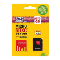 Strontium Nitro Micro SD Card with SD Adapter - 64GB
