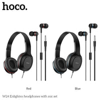 HOCO 3.5mm Earphone + Headset Pack (W24)
