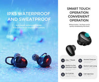Joy Room JR-TL2 TWS Wireless Waterproof Touch Control Sports Earphones