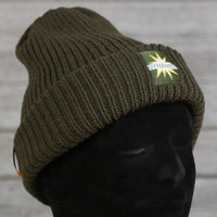 Woolly Hats - Chunky Knit - Olive
