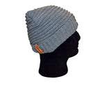 Braided Grey Beanie