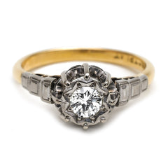 Vintage Single-Stone Diamond Engagement Rings