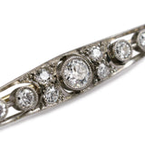 Mesmerising Art Deco Diamond and Platinum Bar Brooch