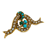 Victorian Turquoise Brooch