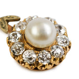 Antique Diamond and Pearl Cluster Pendant