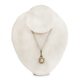 Vintage Pearl and Diamond Pendant
