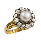 Victorian Pearl and Diamond Ring
