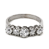vintage five stone diamond ring