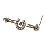 Charming Lucky Victorian Diamond Brooch