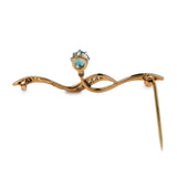Bewitchingly Beautiful Blue Zircon and Diamond Brooch