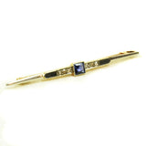 Art Deco Sapphire and Diamond Pin