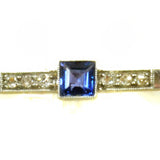 Timeless Art Deco Sapphire and Diamond Pin