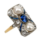 Antique Art Deco Sapphire Ring