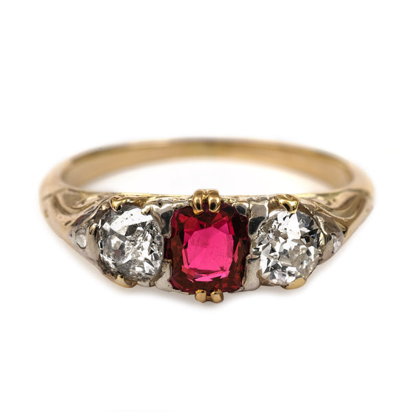 diamond engagement rings ring antique ruby
